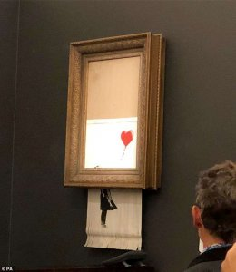 Banksy art shred