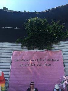 Banner with Mayday Parade lyrics
