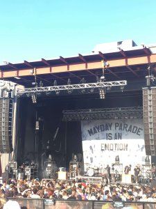 The concert stage for Mayday Parade