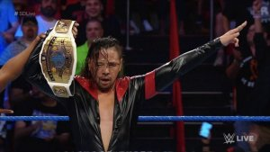 Shinsuke Nakamura with WWE Intercontinental Title
