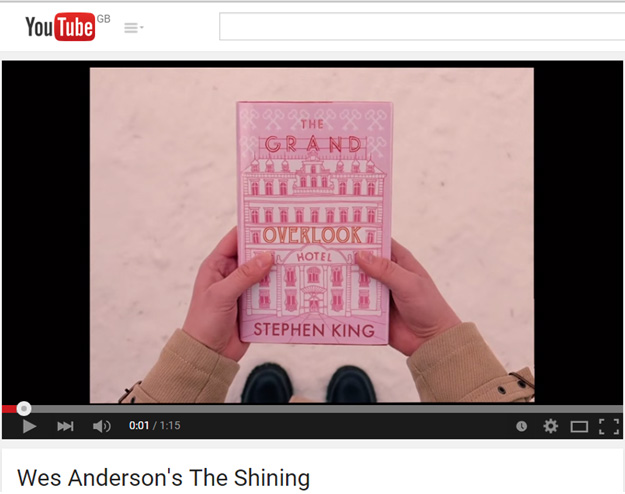 trailer mashup The Shining Wes Anderson